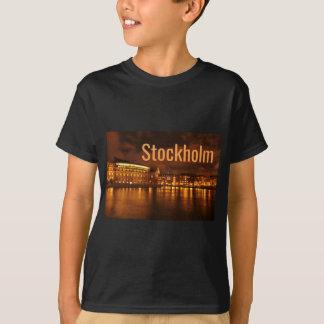 Stockholm, Schweden nachts T-Shirt