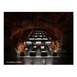 Stockholm-Untergrund I mit Stadt-Namen Postkarte