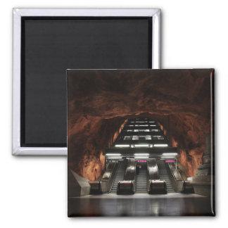 Stockholm-Untergrund I Quadratischer Magnet