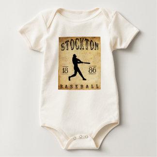 Stockton Kalifornien Baseball 1886 Baby Strampler