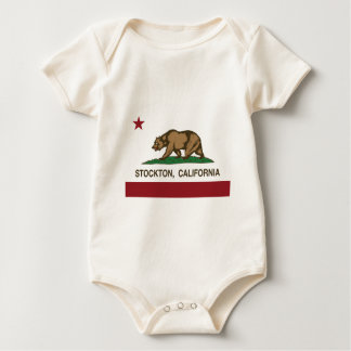stockton Kalifornien-Staatsflagge Baby Strampler