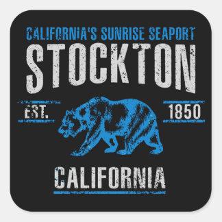 Stockton Quadratischer Aufkleber