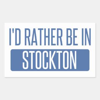 Stockton Rechteckiger Aufkleber