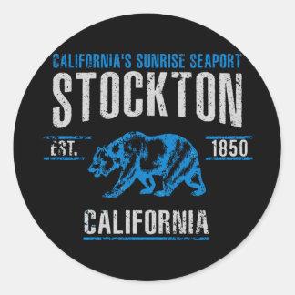 Stockton Runder Aufkleber