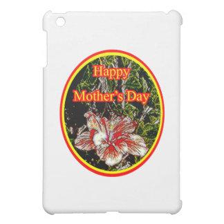 Stoff-Hibiskus-glücklicher Mutter-Tag 2 O das iPad Mini Hülle