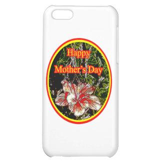 Stoff-Hibiskus-glücklicher Mutter-Tag 2 O das iPhone 5C Hüllen