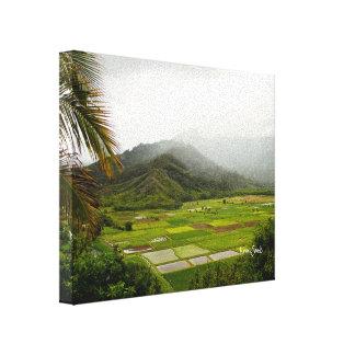 Stoff Kauais, Hawaii fängt Landschaft auf Leinwanddruck