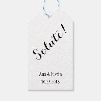 Stoff-personalisierte Hochzeits-Geschenk-Umbauten Geschenkanhänger