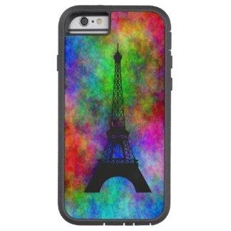 Stoff-Rückseiteneffekte des schönen Eiffelturms Tough Xtreme iPhone 6 Hülle