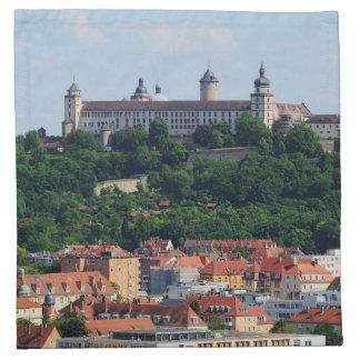 Stoff Servietten Würzburg Festung Marienberg