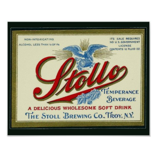 Stollo Vintage Verbot-Anzeige Plakate