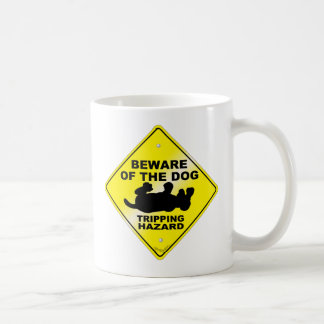 Stolpernd Gefahr Kaffeetasse