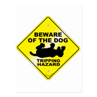 Stolpernd Gefahr Postkarte