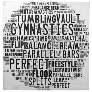 Stolpernde Gymnastik-Wort-Wolke Stoffserviette