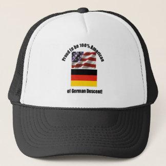 Stolz, 100% Amerikaner der deutschen desent Kappe