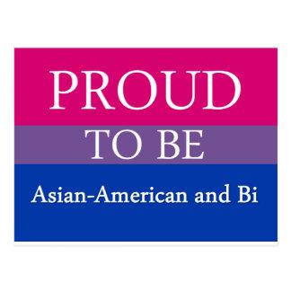 Stolz, asiatischer Amerikaner und Bi zu sein Postkarte