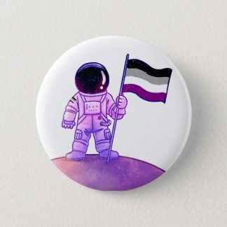 Stolz-Astronaut [asexual] Runder Button 5,7 Cm
