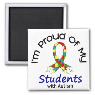 Stolz auf meine autistischen Studenten 1 AUTISMUS- Quadratischer Magnet