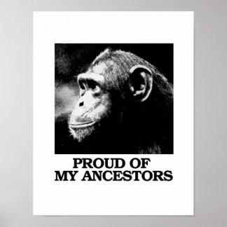 Stolz auf meine Vorfahren - Evolution - - Poster
