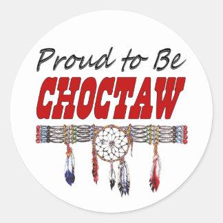 Stolz, Choctaw-Abziehbild-oder Aufkleber-Blätter Runder Aufkleber