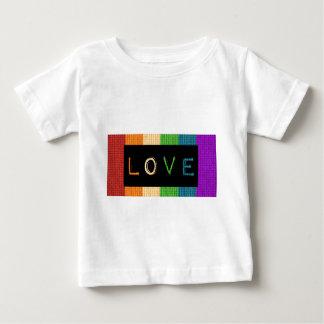 Stolz des Liebe-Aufkleber-LBGT und Baby T-shirt
