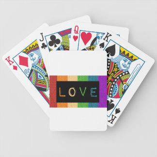 Stolz des Liebe-Aufkleber-LBGT und Bicycle Spielkarten