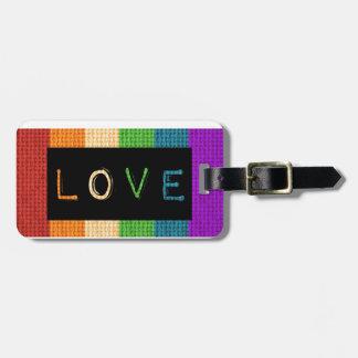 Stolz des Liebe-Aufkleber-LBGT und Gepäckanhänger