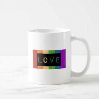 Stolz des Liebe-Aufkleber-LBGT und Kaffeetasse