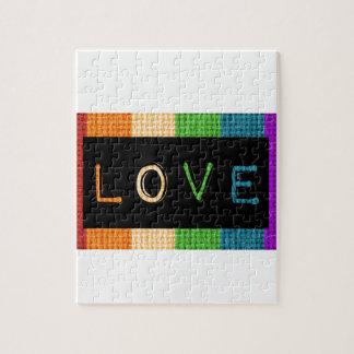 Stolz des Liebe-Aufkleber-LBGT und Puzzle