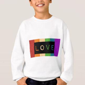 Stolz des Liebe-Aufkleber-LBGT und Sweatshirt
