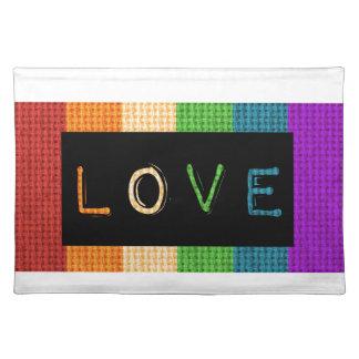 Stolz des Liebe-Aufkleber-LBGT und Tischset