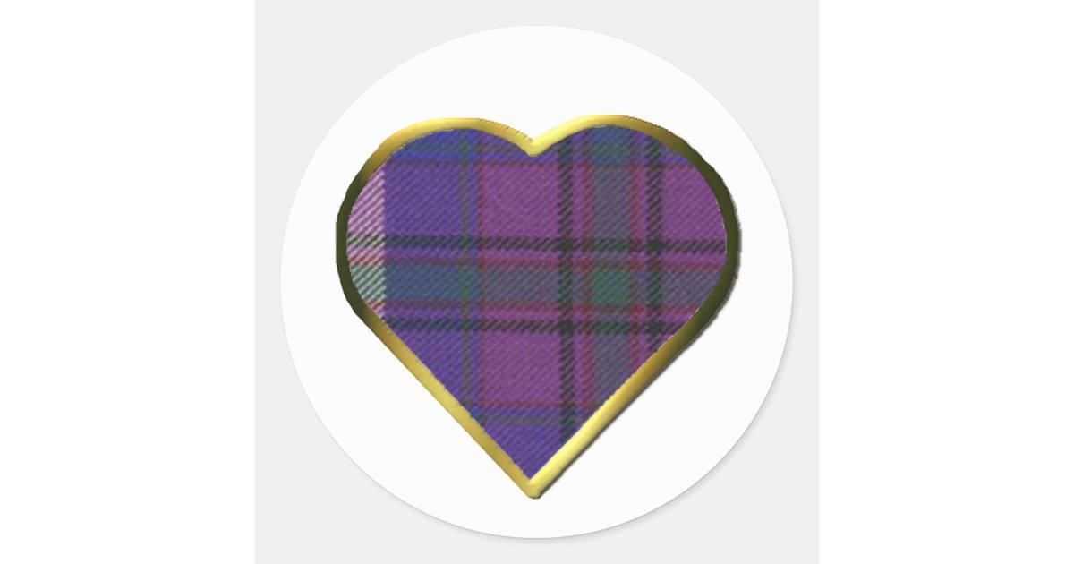 Stolz des Schottland-Herz-Umschlag Aufklebers Runder Aufkleber   Zazzle