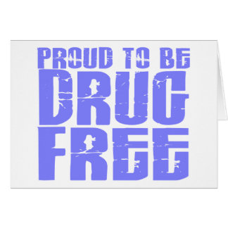 Stolz, Droge zu sein geben Sie 2 hellblau frei Karte