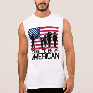 Stolz, ein Amerikaner zu sein Ärmelloses Shirt