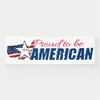 Stolz, ein Amerikaner zu sein Banner