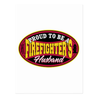 Stolz, ein Feuerwehrmann-Ehemann zu sein Postkarte