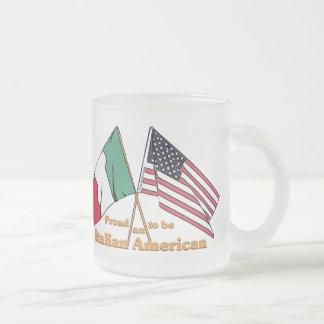 Stolz, ein Italienisch-Amerikanisches zu sein Mattglastasse