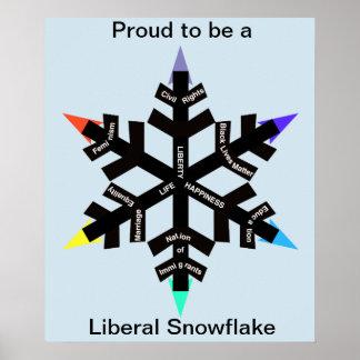 Stolz, ein liberales Schneeflockeplakat zu sein Poster