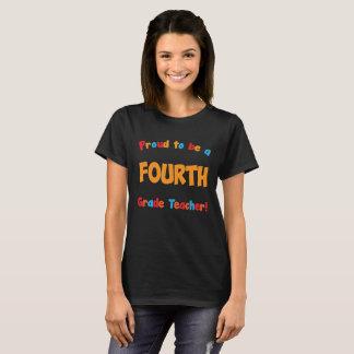 Stolz, ein vierter Grad-Lehrer-Erzieher T-Shir zu T-Shirt