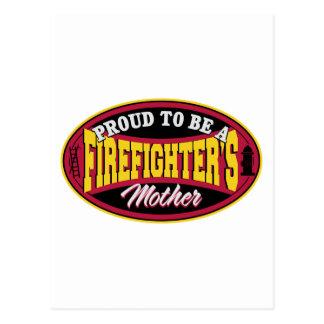 Stolz, eine Feuerwehrmann-Mutter zu sein Postkarte
