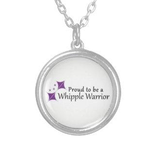 Stolz, eine Whipple Kriegers-Halskette zu sein Versilberte Kette