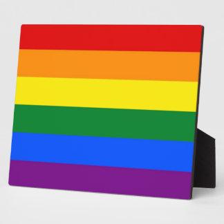 Stolz-Flaggen-Plakette des Regenbogen-LGBT Fotoplatte