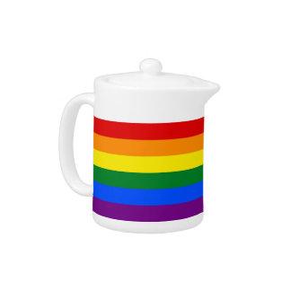 Stolz-Flaggen-Teekanne des Regenbogen-LGBT
