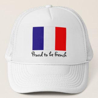 Stolz, französische Flaggen-Ball-Kappe zu sein Truckerkappe