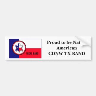 Stolz, gebürtiges AmericanCDNW TX BAND zu sein Autoaufkleber