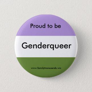 Stolz, Genderqueer Knopf zu sein Runder Button 5,7 Cm