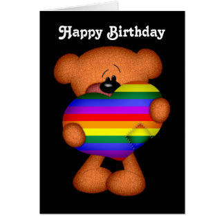 Stolz-Herz-Teddybär-alles Gute zum Geburtstag Karte