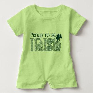Stolz, irisch zu sein, celtic-Knoten St. Patricks Baby Strampler