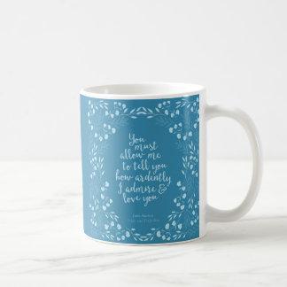 Stolz Janes Austen und Vorurteil-BlumenLiebe Tasse