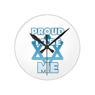 Stolz, jüdisch zu sein runde wanduhr